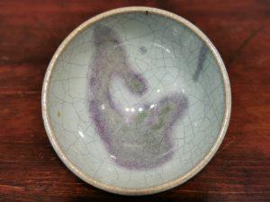 Song Dynasty Azure Glaze Purple Splash Bowl 宋代 天青釉紫斑盞